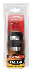 """BETA""ALUM./LEATHER GEAR KNOB,BLACK, Universal"