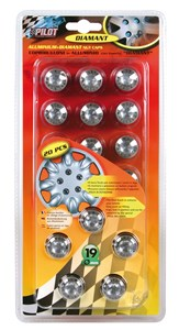 """DIAMANT""SET 20 WHEEL NUT CAPS 17MM, Universal"
