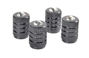 TITANIUM VALVE CAPS WITH DIAMONDS, Universal