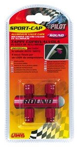 VALVE CAP SET RED COLOUR, Universal