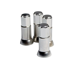 SET 4PCS VALVE CAPS AND SLEEVES, Universal
