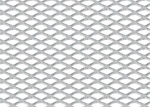 Bildel: MATT FINISH ALUMINIUM GRILL 120X20 SMALL RHOMBS, Universal
