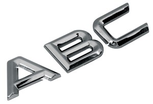 ADHESIVE CHROME 3D LETTER *A* TYPE2 26 MM DIAMOND, Universal