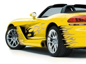 "CAR-TATTOOS 300X210 MM. ""125"",GREY, Universal"