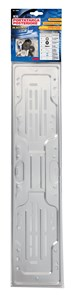 STEEL REAR PLATE HOLDER, SILVER, Universal
