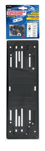 STEEL FRONT PLATE HOLDER, BLACK, Universal