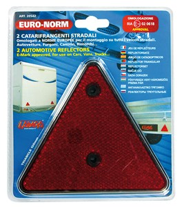 RED WARNING TRIANGLE REFLECTORS, Universal
