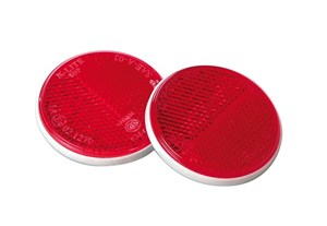RED WARNING ROUND REFLECTORS, Universal