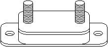 Holder, exhaust system, Left