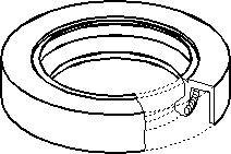Oljepackningsring, hjullager, Fram, höger eller vänster