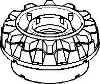 støttelager fjærbein, Foran, høyre eller venstre