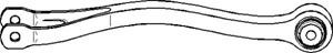 Stång/stag, hjulupphängning, Fram, Bakaxel, båda sidor, Nedre