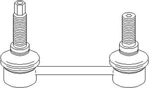 stang, stabilisator, Bakaksel, Bak, høyre eller venstre, Høyre, Venstre
