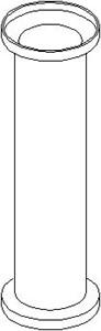 Hylse, tverrstyrestang lagring, Ytre, Bak, høyre eller venstre