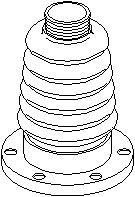 Boot, driveshaft, Transmission side, Front, left or right