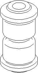 Lagerbøssing, bladfjær, Bak, Bak, høyre eller venstre, Foran eller bak