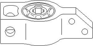 Lagring, bærebru, Bak, Framaksel, Innvendig, Foran, høyre eller venstre, Framaksel nede, Høyre eller venstre