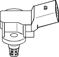 Sensor, sugerørtrykk, Bak, Innsugningsmanifold, Luftfilterhus