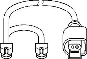 Alarmkontakt, bremsebeleggslitasje, Framaksel, Foran, høyre eller venstre