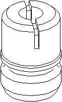Anslagsbuffer, fjæring, Foran, høyre eller venstre