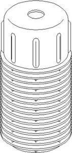 Deksel/folder, støtdemper, Foran, høyre eller venstre