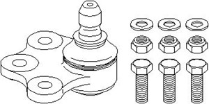 Support-/ Steering Link, Outer, Front axle right, Lower front axle, Lower, Right