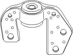 Lagring, akselskråstøtte, Framaksel høyre