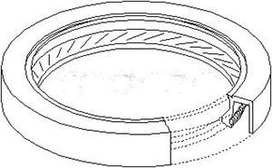 Radial Oil Seal, crankshaft, Transmission side