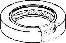 Radial Oil Seal, crankshaft, Front, Front side