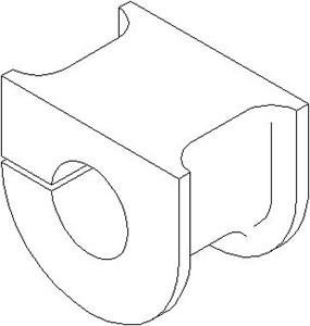Lagring, stabilisator, Foran, høyre eller venstre, Framaksel høyre, Framaksel venstre, Høyre bakaksel, Venstre bakaksel