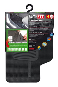 """UNIFIT"" SET OF MATS, BLACK, Universal"