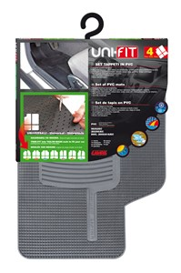 """UNIFIT"" SET OF MATS, GREY, Universal"