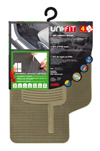 """UNIFIT"" SET OF MATS, BEIGE, Universal"