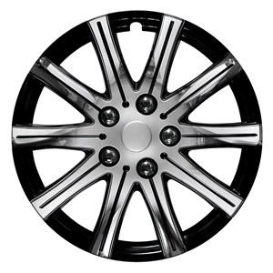 "4PCS CHROMED WHEEL COVER 16""/CC-124 BLACK-CHROME, Universal"