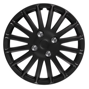 "4PCS ABS WHEEL COVER 13"" C-071 TYPE MATT-BLACK, Universal"