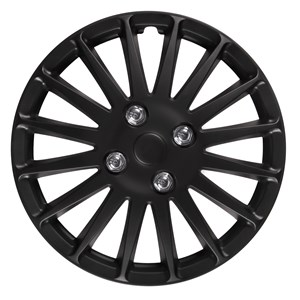 "4PCS ABS WHEEL COVER 16"" C-071 TYPE MATT-BLACK, Universal"