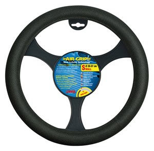 """AIR GRIP"" STEERING WHEEL COVER BLACK, 35/37, Universal"