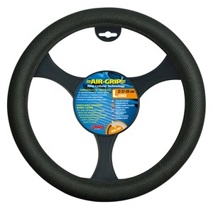 """AIR GRIP"" STEERING WHEEL COVER BLACK, 37/39, Universal"