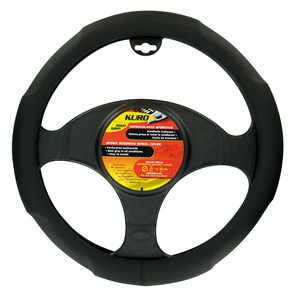 """KURO"" STEERING WHEEL COVER, BLACK ""M"" 37-39CM, Universal"