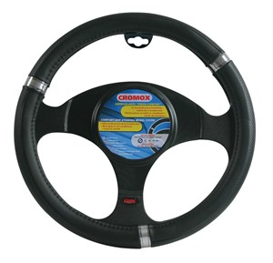 """CROMOX"" STEERING WHEEL COVER,BLACK ""M"" 37-39CM, Universal"