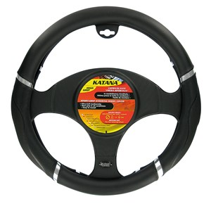 """KATANA"" STEERING WHEEL COVER ""M"" 37-39CM, Universal"