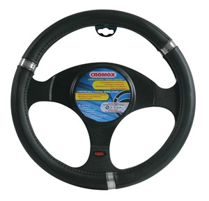 """CROMOX"" STEERING WHEEL COVER,BLACK ""S"" 35-37CM, Universal"