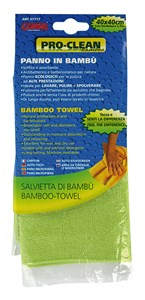 """PRO-CLEAN"" MICROFIBRE CLOTH, BAMBOO-TOWEL, 40X40CM., Universal"