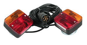 """PRONTO-FARI"" PRE-WIRED MAGNETIC TRAILER LIGHT WIRING SET, Universal"