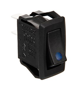 12/24V ROCKER SWITCH WITH BLUE LED, Universal