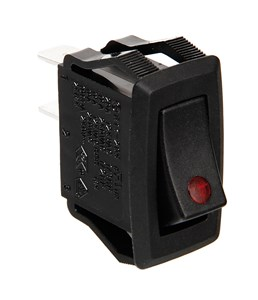 12/24V ROCKER SWITCH WITH RED LED, Universal