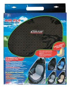 DOUBLE PLASTIC MESH OPEN CELL CAR SEAT CUSHION - BLACK, Universal