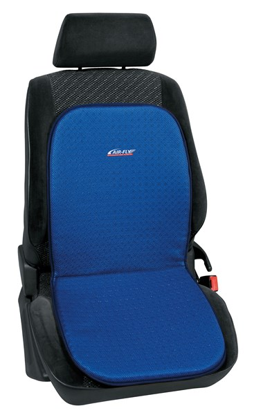 Double Plastic Mesh Open Cell Car Seat Cushion Blue