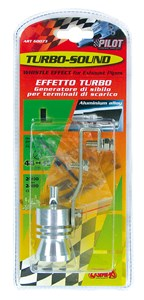"""TURBO-WHISTLER"" FOR EXHAUST PIPE ENDING DIAM.44->45MM., Universal"