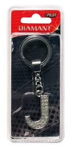 Nyckelring, J, Universal